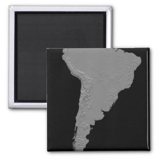 Stereoscopic view of South America Square Magnet