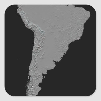 Stereoscopic view of South America Square Sticker