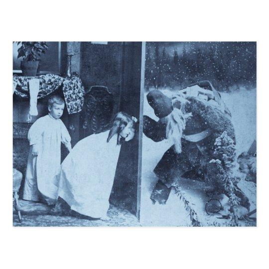Stereoview - Santa?  circa 1899 Postcard
