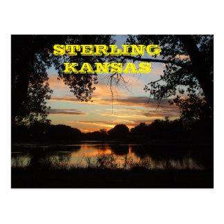Sterling Kansas Golden Sunset Post Card
