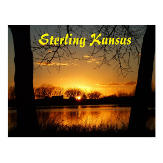 Sterling Kansas Sunset Reflection Post Card
