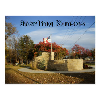 Sterling Kansas Veterans Memorial Postcard