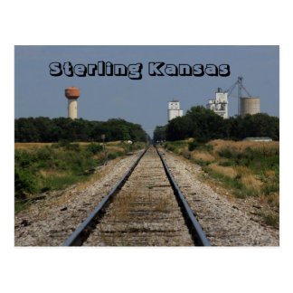 Sterling Kansas West of town POST CARD