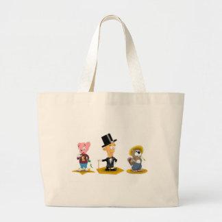 Sterling Man, Richy Bear, Busted Beaver Large Tote Bag