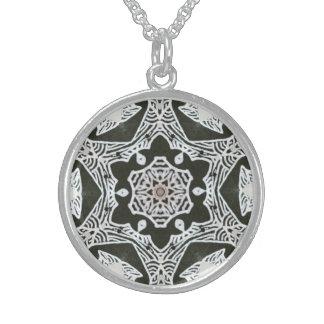 Sterling Mandala Necklace