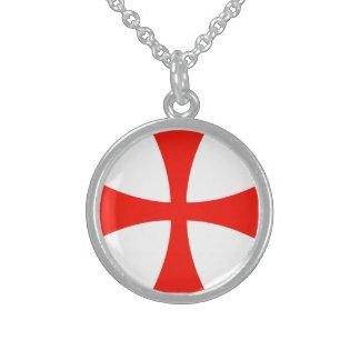 Sterling necklace Knights Templar
