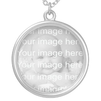 Sterling Silver Baby Photo Necklace