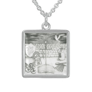 Sterling Silver-Framed Armor Necklace