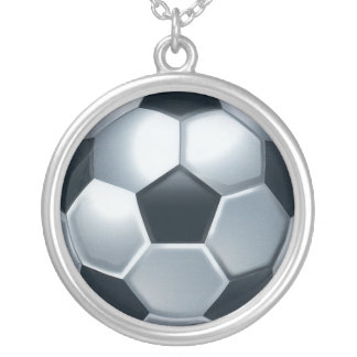 Sterling Silver plated Soccer Ball necklace