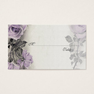 Sterling Silver Rose Wedding Place or Escort Cards