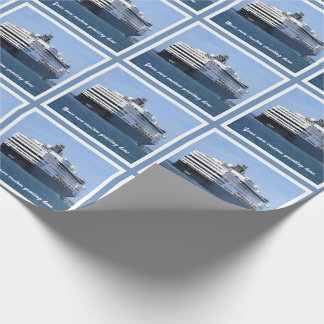 Stern and Starboard Cruising Away Custom Wrapping Paper