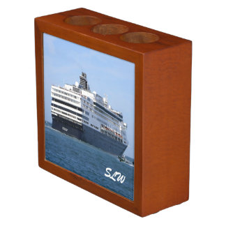 Stern and Starboard Cruising Away Monogrammed Desk Organizer