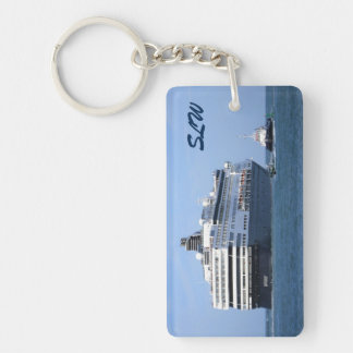 Stern and Starboard Cruising Away Monogrammed Keychain