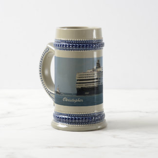 Stern and Starboard Cruising Away Personalized Beer Stein