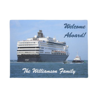 Stern and Starboard Cruising Away Personalized Doormat
