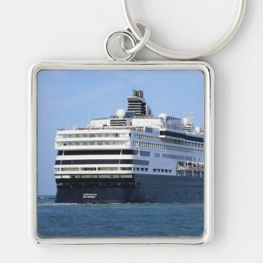 Stern and Starboard Cruising Away Photo Keychain