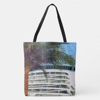 Stern Aspect Cruise Ship Palm Tree Tote Bag