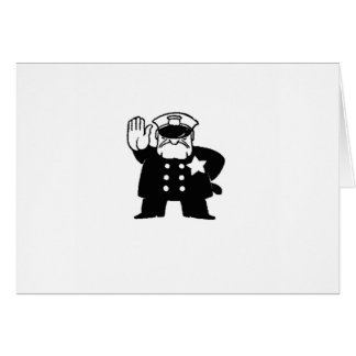 stern cartoon cop card