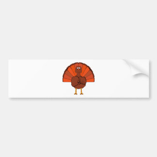 Stern Christmas Turkey. Bumper Sticker
