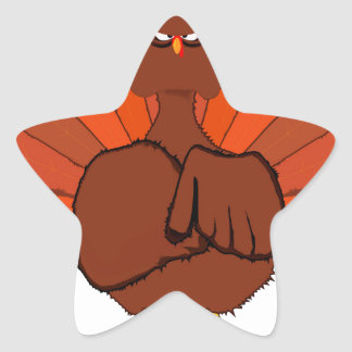 Stern Christmas Turkey Star Sticker