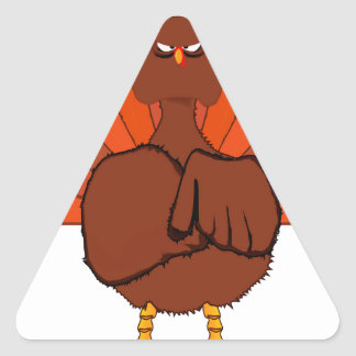 Stern Christmas Turkey Triangle Sticker