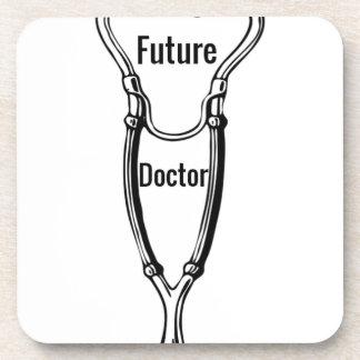 Stethoscope Design For Aspiring Doctors Beverage Coaster