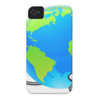 Stethoscope Earth World Globe Health Concept iPhone 4 Covers