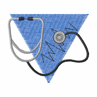 Stethoscope Embroidered Polo Shirts