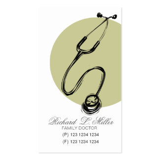 Stethoscope Hand Drawing Classic Doctor Pack Of Standard Business Cards