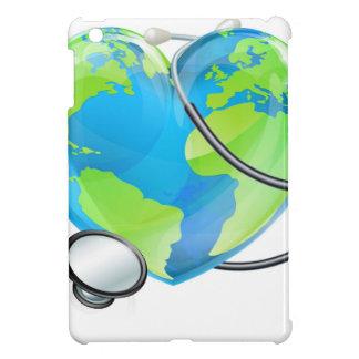 Stethoscope Heart Earth World Globe Health Concept iPad Mini Case