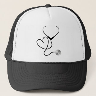 Stethoscope Heart Trucker Hat