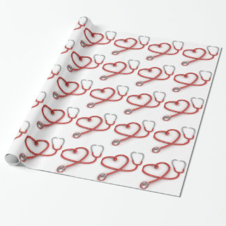 Stethoscope Heart Wrapping Paper