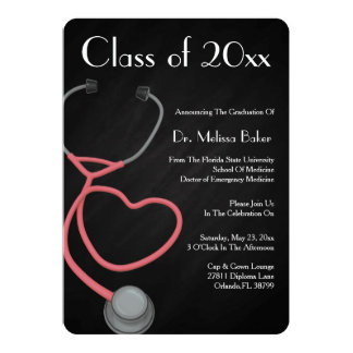 Stethoscope Medical School Graduation Announcement