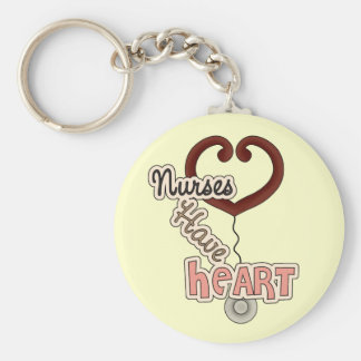 Stethoscope Nurses Have Heart T-shirts and GIfts Keychain