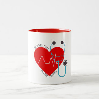 Stethoscope Personalized World's Best Doctor Nurse Two-Tone Coffee Mug