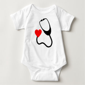 Stethoscope With Heart Baby Bodysuit