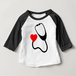 Stethoscope With Heart Baby T-Shirt