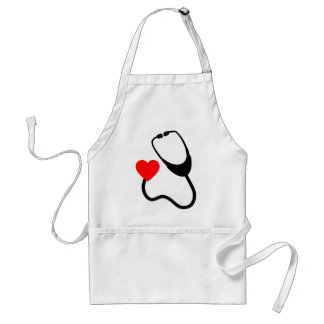 Stethoscope With Heart Standard Apron