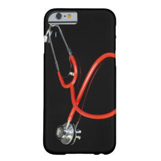 Stethoscope with its reflection on a black barely there iPhone 6 case