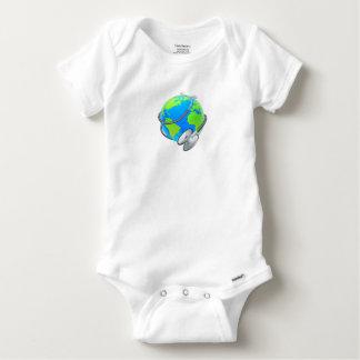 Stethoscope World Health Day Earth Globe Concept Baby Onesie