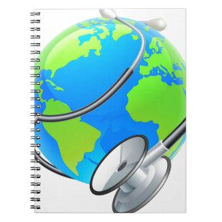 Stethoscope World Health Day Earth Globe Concept Notebooks