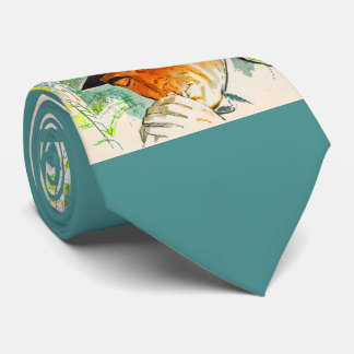 Stetson hat man lighting a cigarette tie