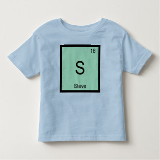 Steve Name Chemistry Element Periodic Table Toddler T-shirt
