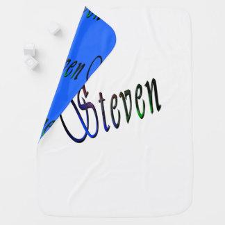 Steven, Name, Logo, Reversible Baby Blanket. Baby Blanket
