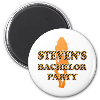 Steven's Bachelor Party 2 Inch Round Magnet