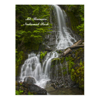 Stevens Canyon waterfall postcard