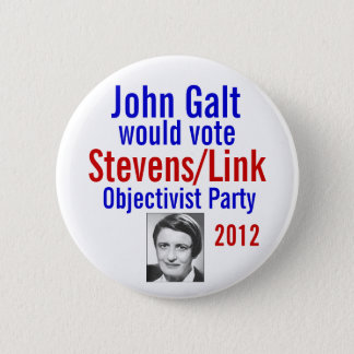 Stevens/Link Objectivist Pary 2012 2 Inch Round Button