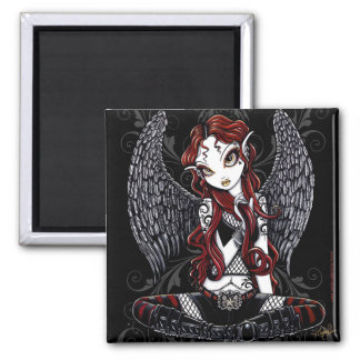 """Stevie"" Gothic Tattoo Angel Magnet"