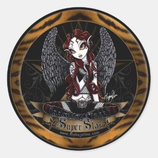 Stevie Super Star Angel Animal Print Sticker
