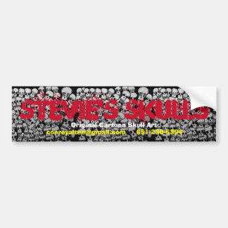 Stevie's Skulls Bumper Sticker